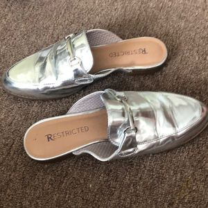 Adorable silver mules